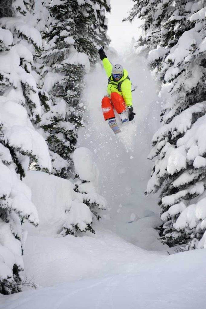 Dreaming of a powder landing.  Photo: Courtesy of Rossland Mt. Film Festival.