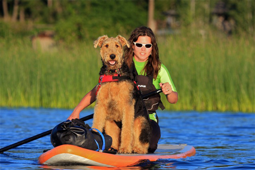 Liberty and co-pilot Cooper enjoying Hauser Lake, ID. Photo: Chris Hoffer