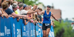 At Ironman Coeur d'Alene, the winner usually finishes between 8 and 8 1/2 hours.
