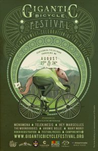 The Gigantic Bicycle Festival in Snoqualmie, Washington is the Pacific Northwest's celebration of bicycle culture and the arts.