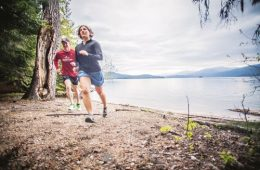 Running along Priest Lake. Photo: Fiona Hicks