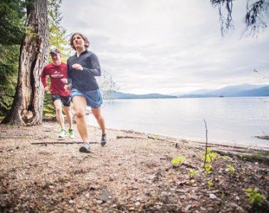 Running along Priest Lake. Photo: Fiona Hicks