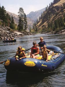 Salmon River float. Photo courtesy of Mountain River Outfitters