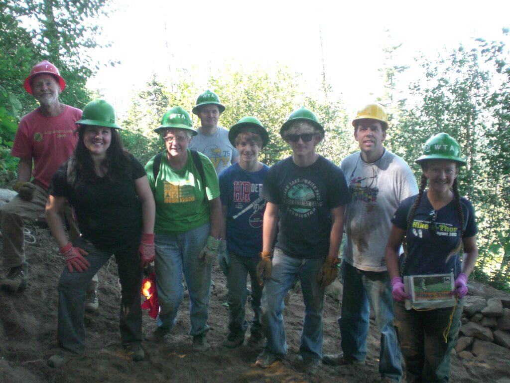 Group of volunteer trail workers.