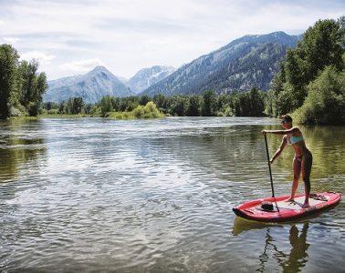 Leavenworth paddleboarding. Photo: Icicle TV