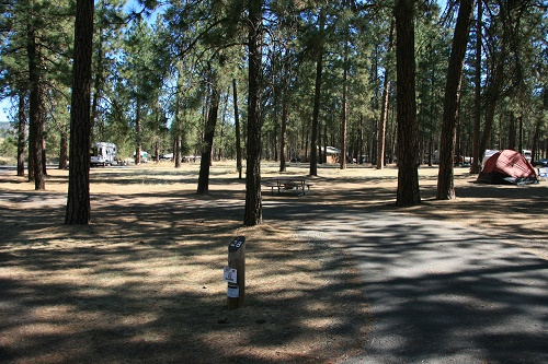 Fort Spokane campground. Photo courtesy National Park Service
