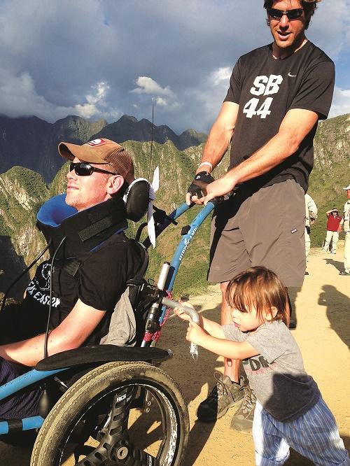 Steve Gleason and Scott Fujita en route to Machu Pichu. Photo courtesy of Team Gleason