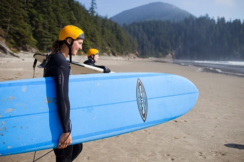 Northwest Women's Surf Camp students ready to paddle out at Short Sand Beach. Photo: Lexie Hallahan