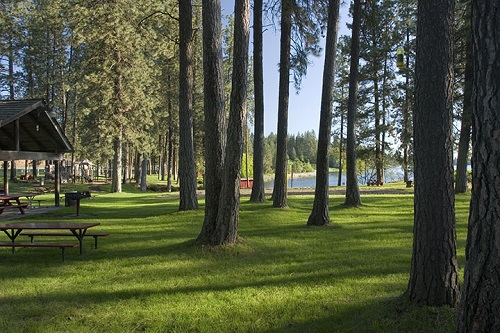 Waterfront Park at Medical Lake. Photo courtesy of City of Medical Lake Parks and Recreation