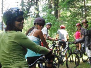 Photo of female bikers.