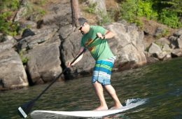 Brad Naccarato showing off his SUP style on Lake Coeur d'Alene. Photo: Shallan Knowles
