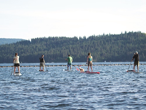 Peaceful evening paddle, with life jackets, near Tubbs Hill in Coeur d'Alene. Photo: Shallan Knowles