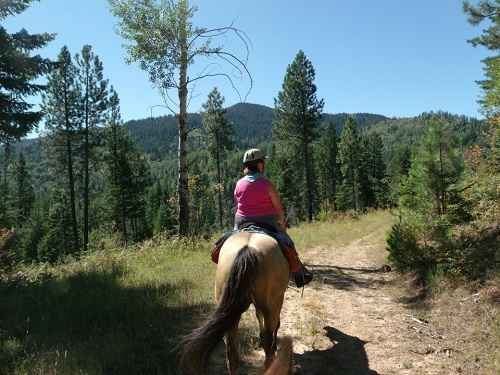 Moose Ridge trail ride. Photo: Sherry Mundt