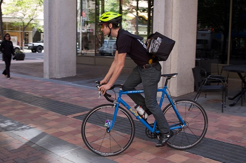 Meet Spokane's Bike Delivery Drivers | Out There Monthly