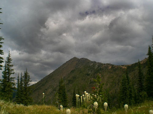 This storm pinned down two OTM writers on a summer traverse of the Bitterroots. Photo: Holly Weiler