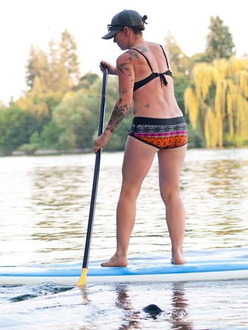 Sara Murphy paddles back to shore. Photo: Shallan Knowles