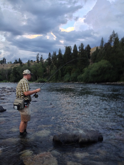 As we waded out into the late August shallows of one of the wilder-feeling spots downstream from the city, the talk turned to fishing, a pastime that White passionately believes is one of the best ways to cultivate a sense of place and to connect with a river in a very personal way. Photo: Derrick Knowles