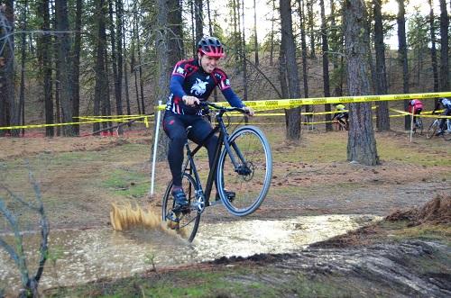 Adam Ransavage loves a good mud puddle. Photo: Hank Greer