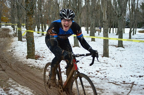 Alan Jacob shows off his finely honed skills in mud and snow. Photo: Hank Greer