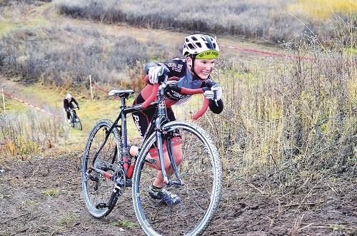 Dylan Pollard reaches the top of the run. Photo: Hank Greer