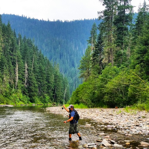 Large cutthroat often stack up in the deep banks that line the North Fork. All photos courtesy of David Uhlenkott