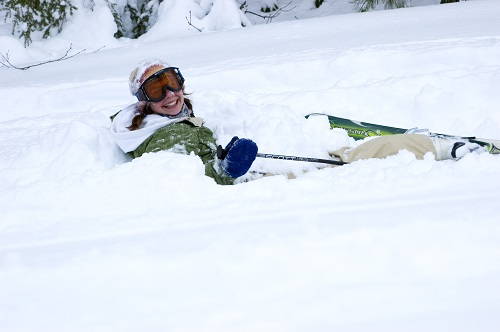 Smiling in the powder. Photo: Matt Sawyer, Ski Butternut