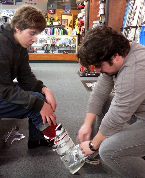 Whether you have just received your brand new ski boots in the mail or are heading to your local shop to check out boots, you will need to try them on to make sure they fit properly.