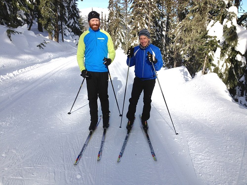 Relax over the bumps, bend your knees. Photo courtesy of Spokane Nordic Ski Association