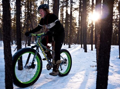 Fat biking fun in ideal conditions.