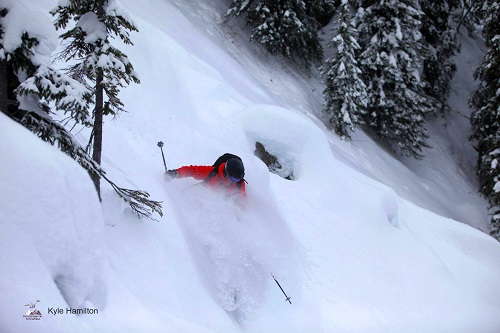 Jim Bolser skiing. Photo courtesy Kyle Hamilton