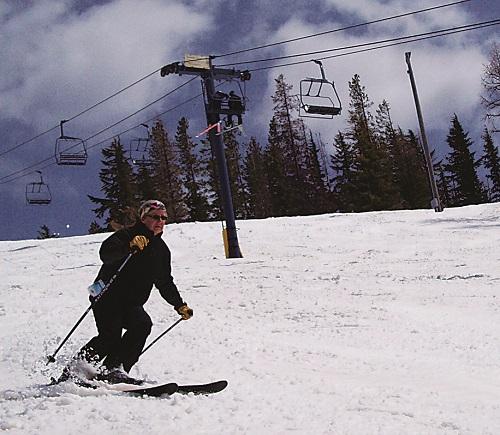 Sherry LaVigne making turns. Photo courtesy of Sherry LaVigne