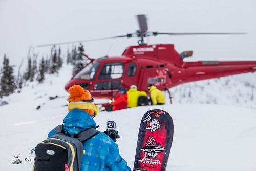 It's just another day at the office, with a fresh foot of powder. Photo courtesy Kyle Hamilton