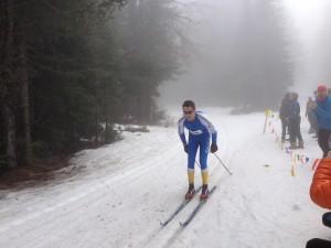 Andrew Potyk flying through the fog. Photo courtesy Spokane Nordic.