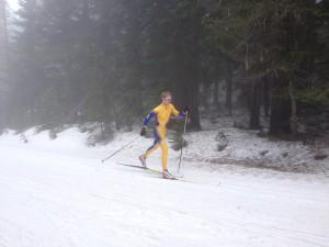 Brett Ford skiing his way to Truckee. Photo courtesy of Spokane Nordic.