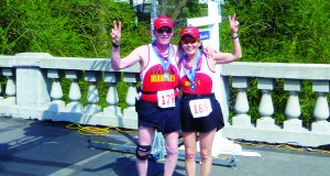 Elaine Koga-Kennelly with her husband Paul at the finish of the 2011 Windermere Marathon. Photos courtesy of Elaine Koga-Kennelly