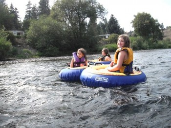 Go with the flow on a tubing trip. Photo courtesy of FLOW Adventures