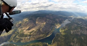Flying high over the Columbia River. Photo courtesy of Mike Bomstad.
