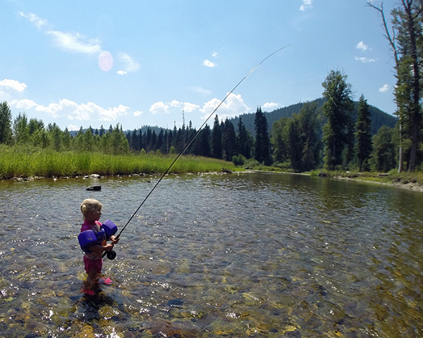 Family camping and floating on the north fork of the coeur for Devils elbow fishing resort
