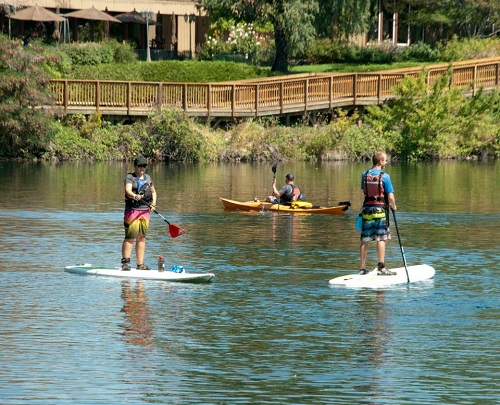 Photo of paddleboarders courtesy of Spokane Parks and Recreation.
