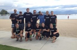Team OTM at the end of the Spokane 2 Sandpoint Relay Run.
