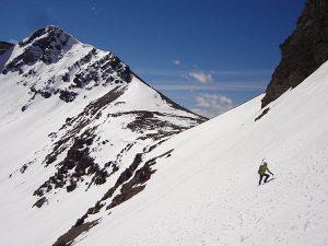 Big mountain, little skier. Photo: Mikell Bova