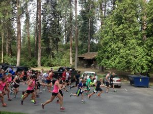 Dad's Day Dash 5K start at Manito Park