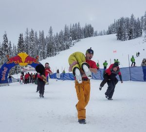The world famous Wife Carrying Contest at Lookout Pass. Photo: Jason Bergman, courtesy of Lookout Pass Ski and Recreation Area