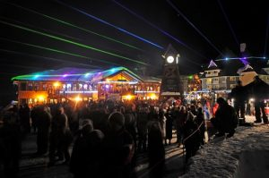 Schweitzer laser light show. Photo courtesy of Schweitzer Mountain Resort