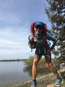 Catra Corbett out on the trail. // Photo courtesy of Catra Corbett.