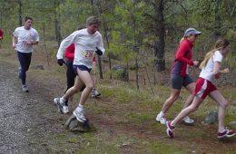 runners along the Spokane River.