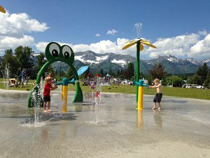 Cooling off at the Fernie Waterpark. // Photo courtesy of Tourism Fernie.