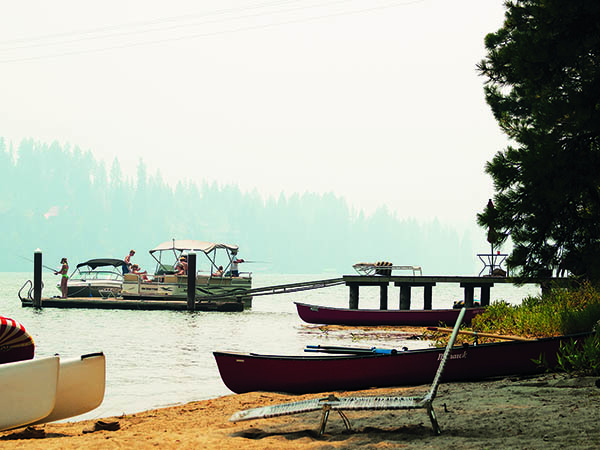 Smoky summer at Hayden Lake. // Photo: Shallan Knowles.