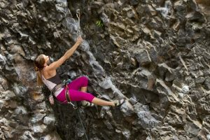 Serra Baron climbing The Roach at Deep Creek. Photo: Jon Jonckers