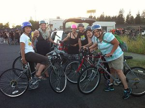 The Final FBC riders getting ready to tear up the city. // Photo: Shallan Knowles.